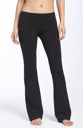 Women's Hard Tail Roll Waist Bootleg Flare Pants $59 thestylecure.com