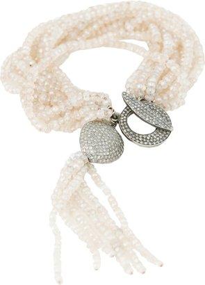 JORDAN ALEXANDER Moonstone Bracelet with Tassel and Pave