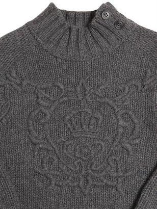 Dolce & Gabbana Hand Embroidered Heavy Wool Jumper