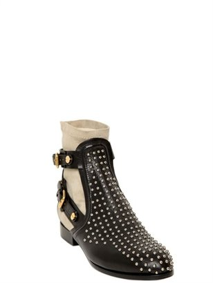Chloé 30mm Studded Calfskin Boots