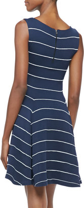 Alice + Olivia Bolton Sleeveless Striped Dress