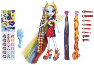 My Little Pony equestria girls rainbow dash hairstyling doll by hasbro