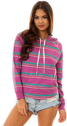 Vans The Access Stripe Pullover Hoody in Dahlia Mauve