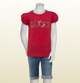 Gucci Watermelon Cotton T-Shirt With Flora Print