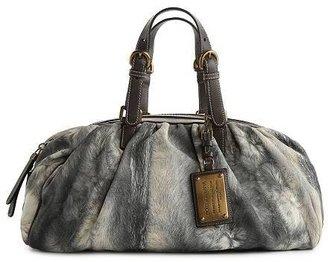 Dolce & Gabbana Printed Leather Satchel