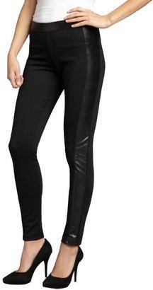 Wyatt black stretch faux leather side leggings