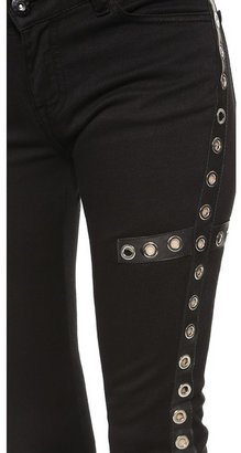 EACH x OTHER Fabio Paleari Jeans with Leather & Eyelet