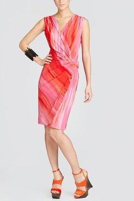Josie Natori Taal Lake Printed Knot Dress Style U13196