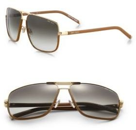 Jimmy Choo Carry Oversized Metal Sunglasses