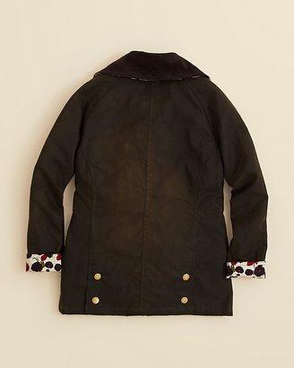 Barbour Girls' Beadnell Printed Waxed Jacket - Sizes XXS-XXL