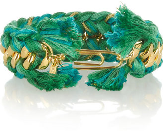 Aurelie Bidermann Do Brasil gold-plated and cotton cuff