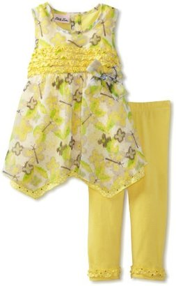 Little Lass Girls 2-6x 2 Piece Ruffle Top Skimmer Set