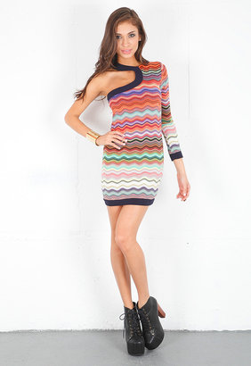 T-Bags T Bags One Sleeve Dress in Multi