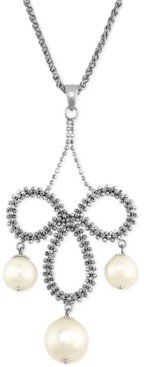 Effy Pearl Lace by Cultured Freshwater Pearl Chandelier Pendant Necklace in Sterling Silver (8-1/2mm)