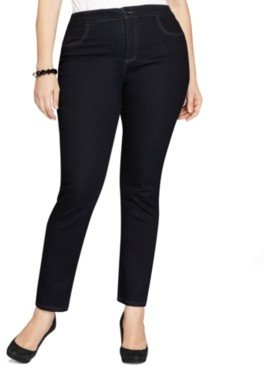 Style&Co. Style & Co Plus & Petite Plus Easy-Fit Tummy-Control Straight-Leg Jeans, Created for Macy's