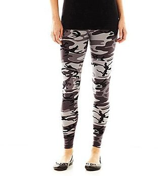 JCPenney Camouflage Print Leggings