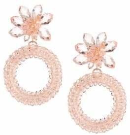 Kate Spade Beaded Floral Hoop Earrings