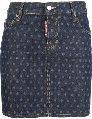 DSquared DSQUARED2 polka dot print skirt