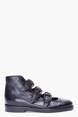 Opening Ceremony Black Naomi Buckle Boots