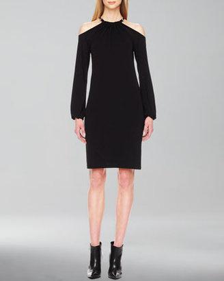 Michael Kors Jersey Cold-Shoulder Dress