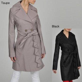 Tahari ASL TAHARI Evelyn Ruffle Trench Coat $89.99 thestylecure.com