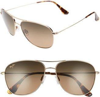 Maui Jim Cliff House 59mm PolarizedPlus2(R) Metal Aviator Sunglasses