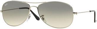 Ray-Ban Aviator Sunglasses, Silver