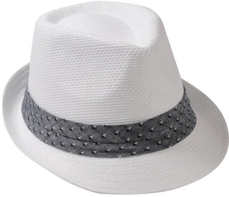 Forever 21 21 MEN Triangle Band Straw Fedora
