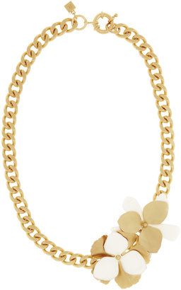 Reiss Lunette ENAMEL DOUBLE FLOWER NECKLACE