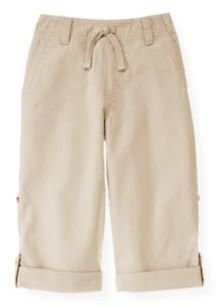 Janie and Jack Roll Cuff Canvas Pant