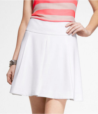 Express High Waist Fit And Flare Pleated Skirt