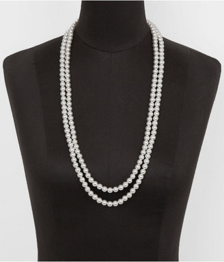 Express Long Faux Pearl Necklace