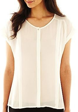 JCPenney Worthington® Button-Front Blouse