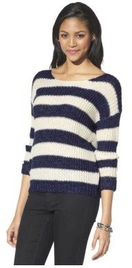 Xhilaration Junior's Striped Sweater - Assorted Colors