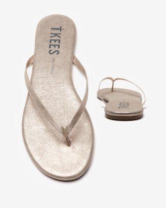 TKEES Glitters Flip Flops: Pink Pearl