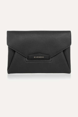 Givenchy Antigona Textured-leather Clutch - Black