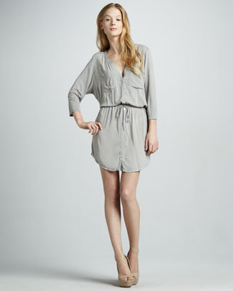Soft Joie Dayle Mix-Fabric Dress