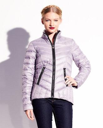 Betsey Johnson Marshmallow Lace Detail Down Coat