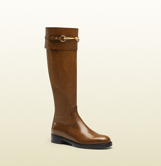 Gucci Jamie Cuir Leather Riding Boot