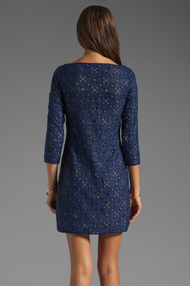 Catherine Malandrino All Over Embroidered Dress