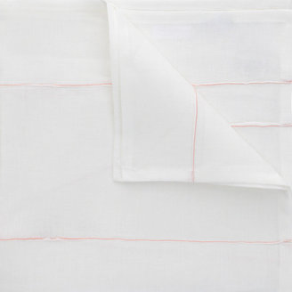 Deborah Rhodes Embroidered Striped Seam Napkin