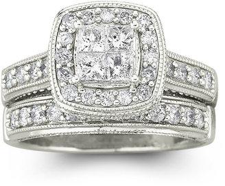 JCPenney MODERN BRIDE 1 CT. T.W. Diamond Bridal Set 14K White Gold