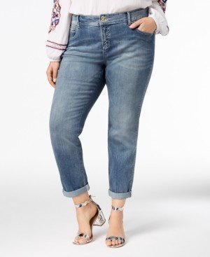 INC International Concepts Inc Plus Size Tummy Control Zenith Boyfriend Jeans, Created for Macy's