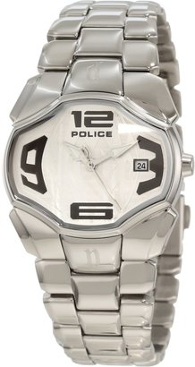 Police Women's PL-12896BS/04M Angel Silver Dial Stainless Steel Date Watch
