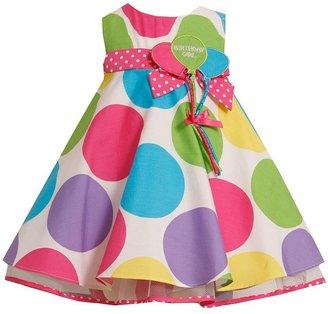 "Bonnie Jean birthday girl"" polka-dot trapeze dress - girls 4-6x"