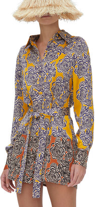 Alexis Andira Button-Front Belted Tunic