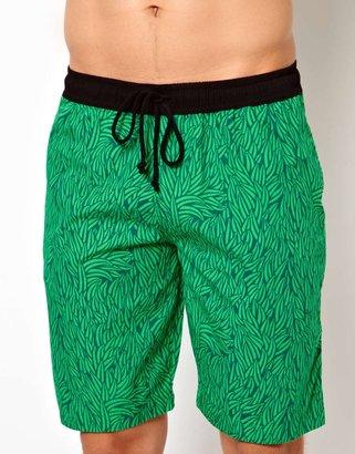 Pa:nuu Green Leaf Boardshort