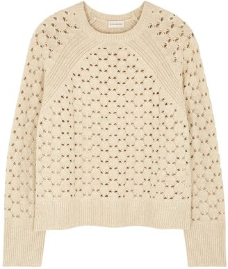 By Malene Birger Acis Cream Open-knit Jumper