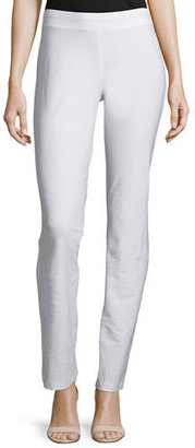 Eileen Fisher Washable-Crepe Boot-Cut Pants, White, Petite $125 thestylecure.com