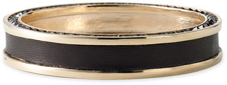 House Of Harlow Leather & Crystal Bangle